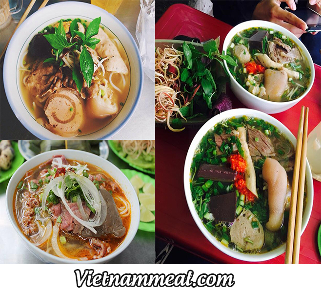 """Famous Destinations For Those """"addicted"""" To Bun Bo Hue"""